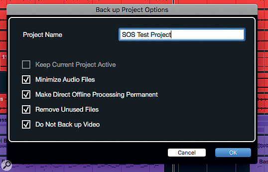 Making a clean and compact backup of your current project is easy in all versions of Cubase.