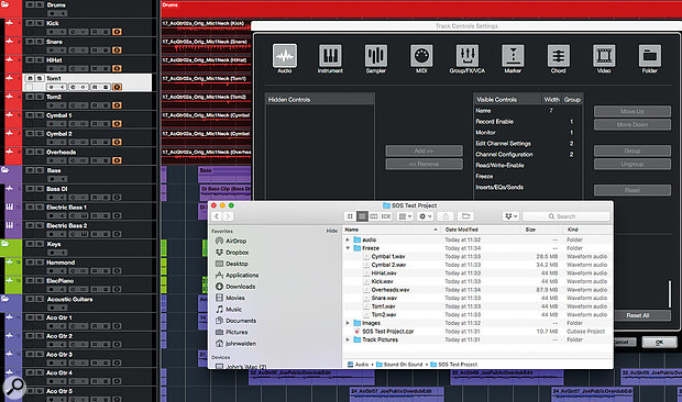 Using the Audio Mixdown dialogue (shown here in Cubase Elements) allows you to render your virtual instrument tracks to audio, albeit one at a time.