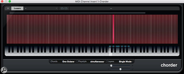 The Chorder plug-in doesn't have to be used for chords — you can also use it to re-map notes for complex scales, or create custom scales.