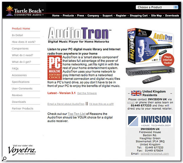 The Windows Media Center Edition will seek to support remote playback control devices such as the Turtle Beach Audiotron, via home media networking centred on the PC.