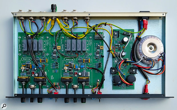 A sneaky peak inside the DACS Clarity MicAmp2.