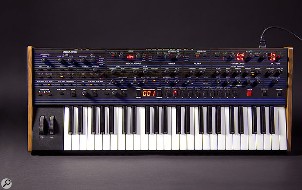 The OB6's main panel, resplendent in the fine pinstripe of its ancestor, measures 807 x 323 mm.