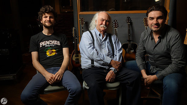 The team: from left, Michael League, David Crosby and Fab Dupont.