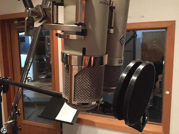 A nice choice to have: a Lauten Eden set up alongside David Crosby's favourite Neumann U47 in the vocal booth.