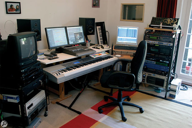 Nainita Desai's studio is based around two Apple G5 Power Macs running Logic, with a Mackie Control controller and M Audio Keystation Pro 88 master keyboard.