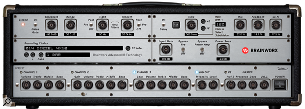 The Diezel Herbert amplifier plug-in, free with UA's UAD 9.8 update.