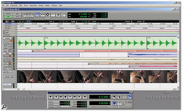 Pro Tools software is based around two main windows: this is the Edit window.