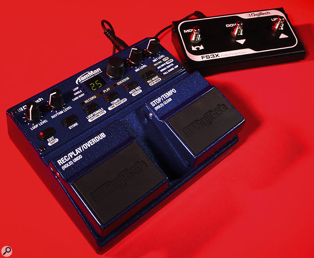The Digitech Jam Man together with its optional FS3X triple footswitch.