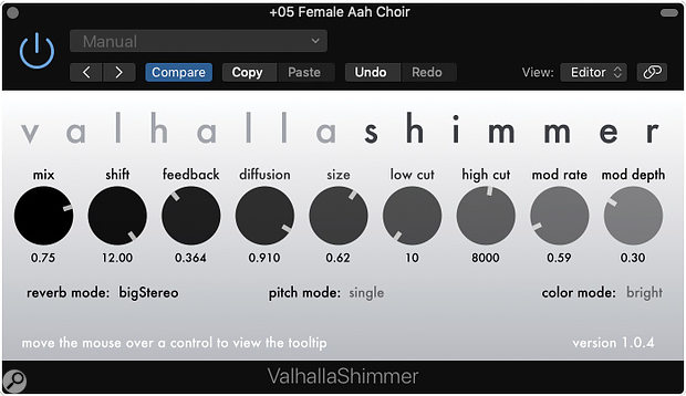 For more instant gratification, you could try a commercial plug‑in such as Valhalla Shimmer!