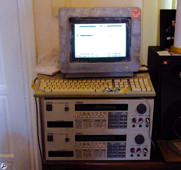The mainstay of DJ Format's studio: two Akai S950 samplers and an Atari, running Cubase.