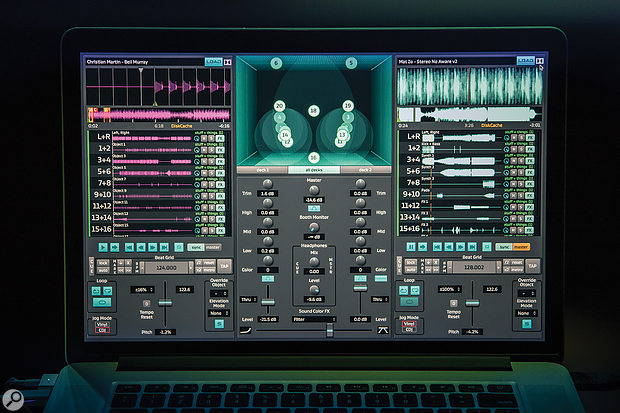 Dolby's Atmos DJ performance software allows for real-time surround panning, and can be controlled using industry-standard Pioneer DJ hardware, via the HUI protocol.