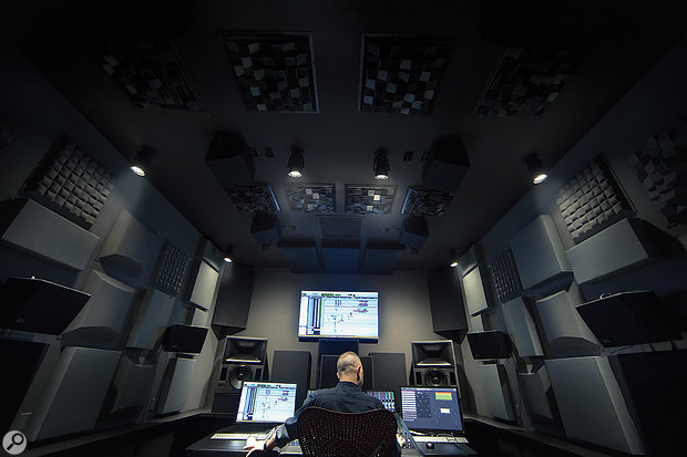 Dolby have set up a number of dedicated mixing rooms fitted with small-scale Atmos speaker arrays.