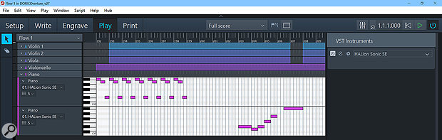Play mode provides a sequencer-like way to manipulate the playback of a  score.