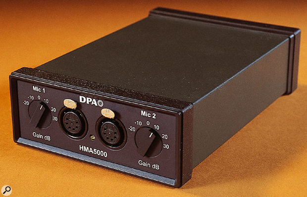 The HMA5000 power supply and dual-channel preamp.