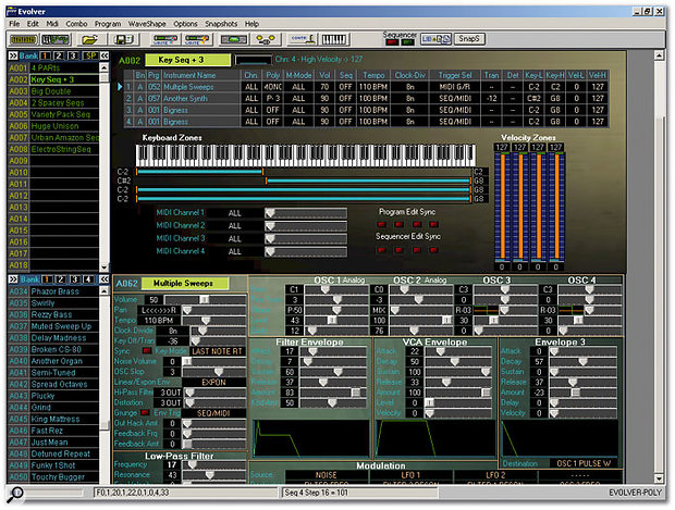 Editing Combos with the software editor is, unsurprisingly, much easier than via the Poly Evolver's two-line LCD!