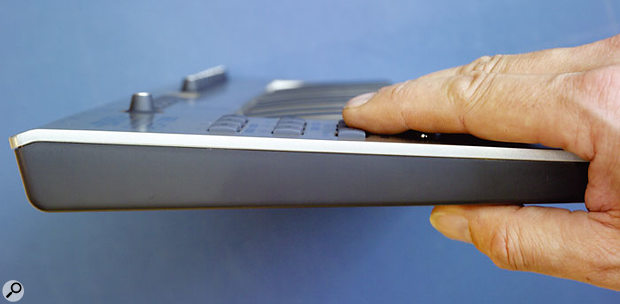 This side view shows just how thin the PCR1 really is — it's just 40mm at its thickest point.