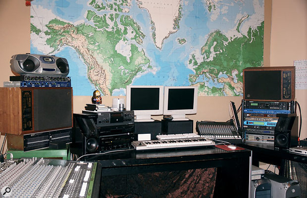 The studio is based around two Apple Mac G4 computers running Logic, plus a selection of outboard including (right) the Digitech Studio Vocalist used extensively on Another Day On Earth, a Lexicon Jam Man loop sampler and an Eventide H3000 Harmonizer.