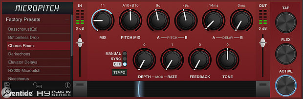 MicroPitch is perhaps the most subtle of the three plug-ins, but nonetheless offers some great modulation options.