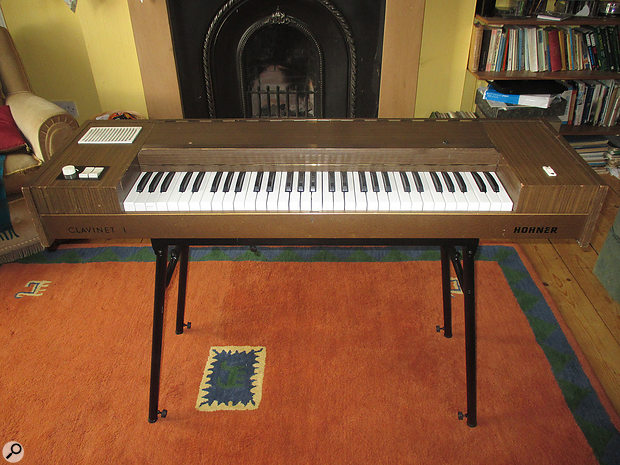 The rare and early Clavinet I  variant, resplendent in brown wood veneer!