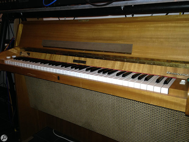 The most often encountered variant of the Electra Piano is the 'console' model. This example is from the collection of leading repair specialists Electric Piano Service, based in the Netherlands.