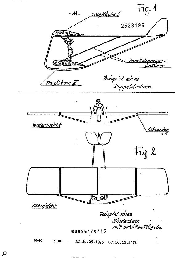 As well as instrument designs, Zacharias received patents for his single-decker and double-decker gliders!