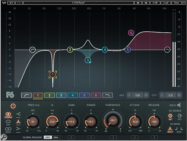 Waves F6 plug-in.