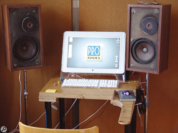 Tore Johansson's favoured nearfield monitors are these battered Epicure EPI 100s.