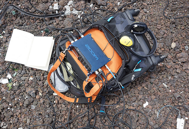The author's Zoom F8 multitrack recorder ticks a lot of boxes for field recording. But even with such compact digital recorders, a field recording pack can be a very big weight to lug around the world!
