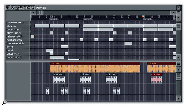 Arranging Patterns within the Playlist Window.