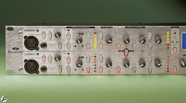 Focusrite Platinum Twin Trak Pro front panel.
