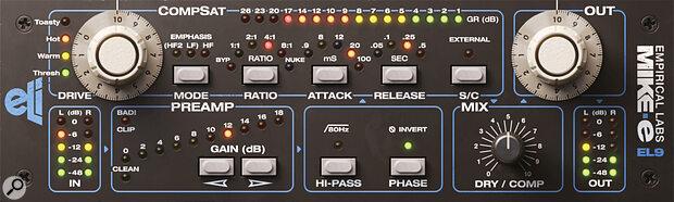 Softube Empirical Labs Mike-E compressor.