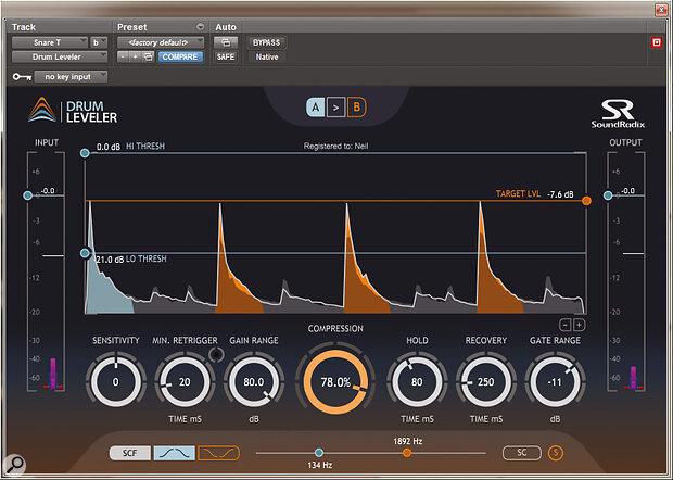 Sound Radix Drum Leveler.