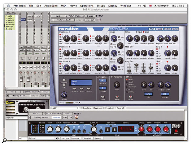 VST plug-ins running in Pro Tools, thanks to FXpansion's adaptor.