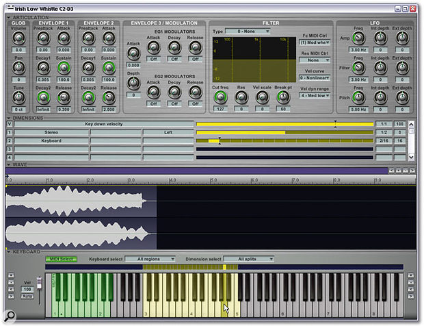For 'quick and dirty' edits to Gigastudio 3 instruments, the new Quick Edit window is far quicker to launch and easier to use than the full Instrument Editor.