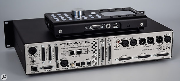 This is the first Grace Design controller that employs entirely digital signal processing/routing — hence the profusion of digital connectivity and optional A‑D modules.