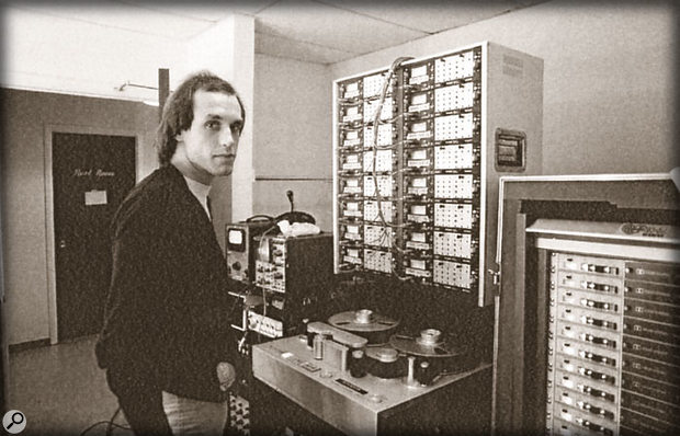 Greg Ladanyi backstage with the Studer 24-track used for recording the live material on Jackson Browne's Running On Empty.