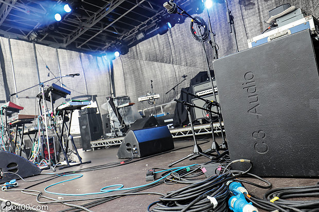 Turbosound TFM-560s were used for the stage wedges.