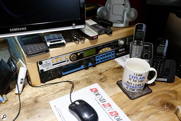 Studio SOS June 2020 - righthand side of Hugh's desktop.