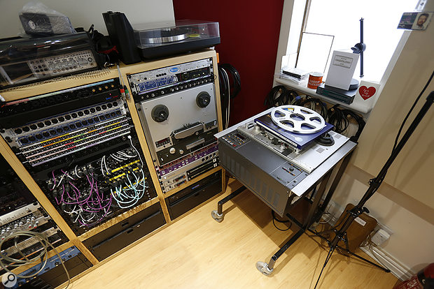 Studio SOS June 2020 - rack bays 2 and 3 with Studer tape machine.
