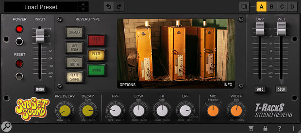It's not just the main studio live rooms that are emulated in this plug‑in — there are mechanical reverbs, echo chambers and booths too.