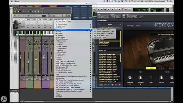 !llmind's Pro Tools screenshot.