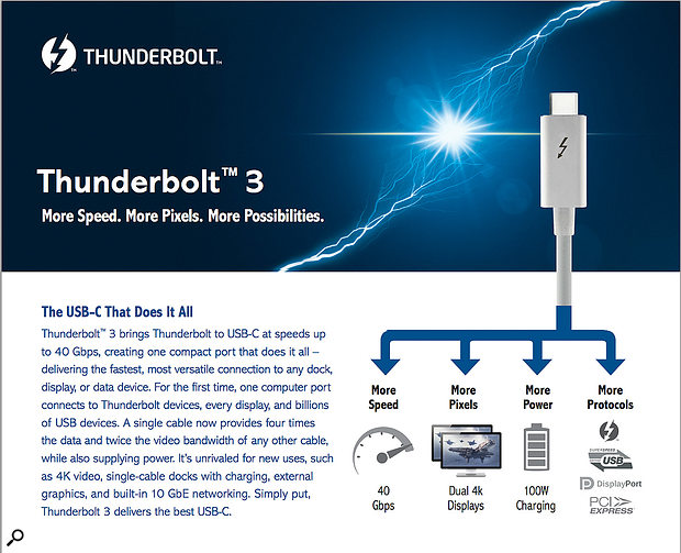 Thunderbolt 3 was announced by Intel shortly before we went to press, and while devices aren't available yet, it promises vast bandwidth, plenty of bus power, and the ability to daisy-chain devices. But is it worth waiting for?