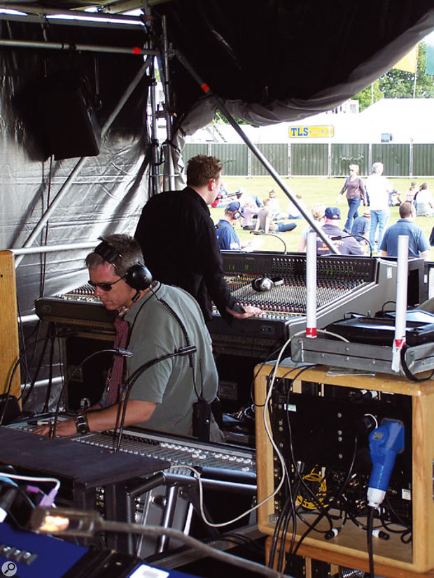 Canegreen's Audient and Midas desks help keep the show on schedule.