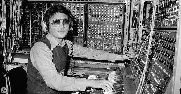 Isao Tomita back in the 70s, surrounded by his modular synths.