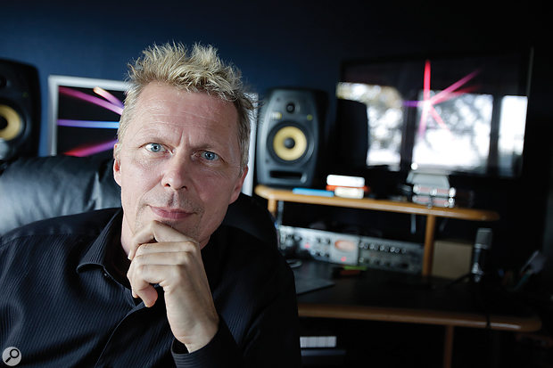 The movie's executive music producer, Marius de Vries, at his own Berry Drive Studio.