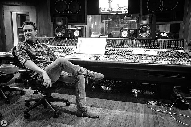 Engineer and mixer Nicholai Baxter at Conway Studios during one of the jazz recording sessions for the film.