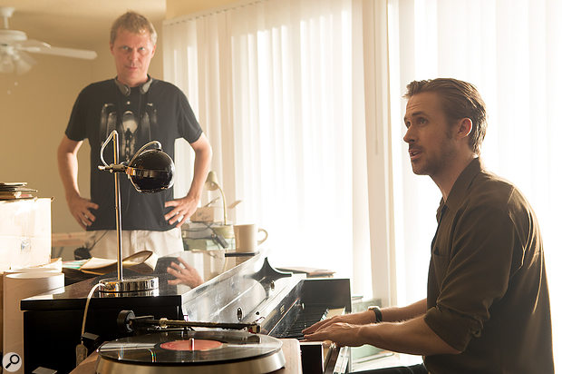 Ryan Gosling (right, with Marius de Vries) worked hard to ensure that his on-screen piano performances would be believable.