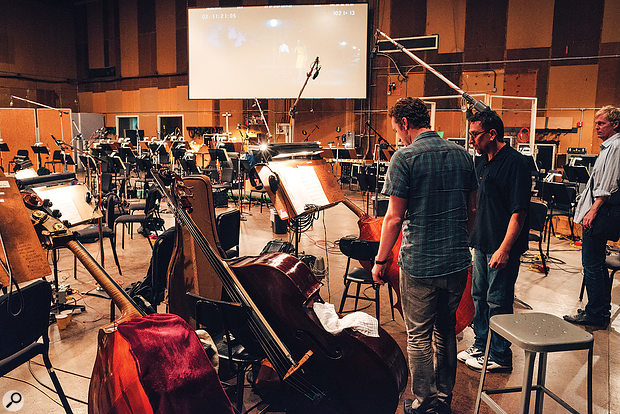 The orchestral sessions at the Sony Pictures Scoring Stage were a high point for Nicholai Baxter.