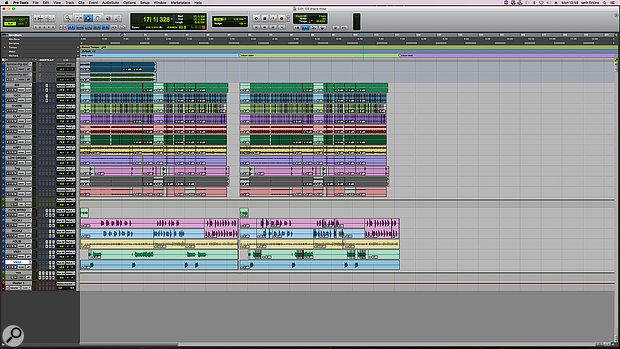 The complete Pro Tools session for Seth Firkins' mix of 'Draco'. Note that the entire song appears twice, the second version being the 'clean' edit.