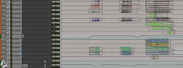 Automation was also used extensively on the song's string tracks.